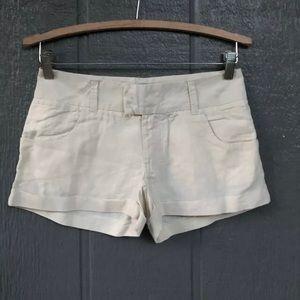 Arden B Linen Mini Shorts Size 0